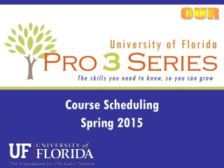 Course Scheduling Spring 2015