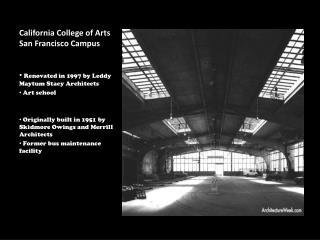 California College of Arts San Francisco Campus