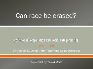 Coalitional Computation and Social Categorization