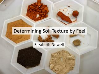 Determining Soil Texture by Feel