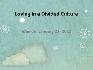 Loving in a Divided Culture