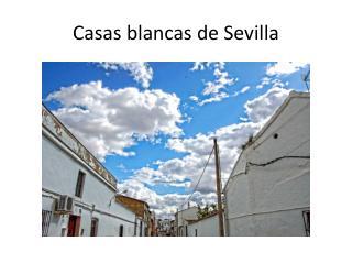 Casas blancas de Sevilla