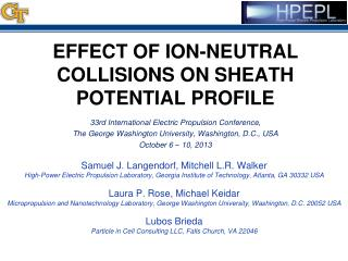 Effect of Ion-Neutral Collisions on Sheath Potential Profile