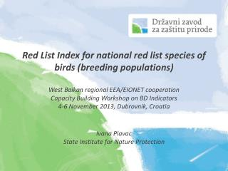 Red List Index for national red list species of birds (breeding populations)