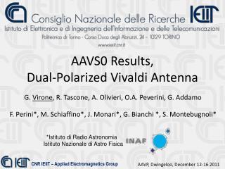 AAVS0 Results,  Dual-Polarized Vivaldi Antenna