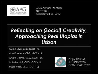 Reflecting on (Social) Creativity, Approaching Real Utopias in Lisbon