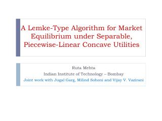A Lemke-Type Algorithm for Market Equilibrium under Separable, Piecewise-Linear Concave Utilities