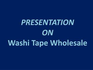 Wholesale Washi Tape Online: Lychee Craft Better Source