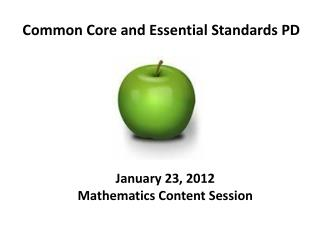 Common Core and Essential Standards PD
