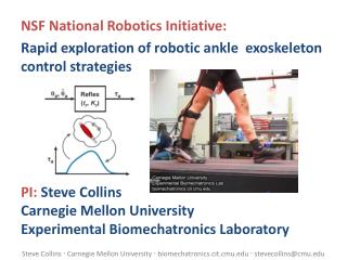 NSF National Robotics Initiative:
