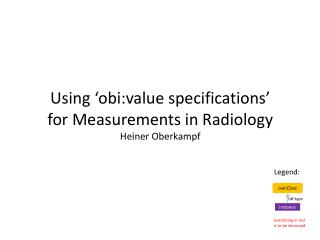 Using 'obi:value specifications' for Measurements in Radiology Heiner Oberkampf