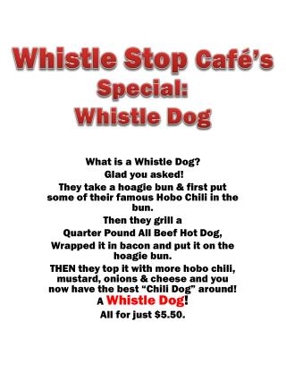 Special: Whistle Dog