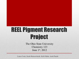 REEL Pigment Research Project