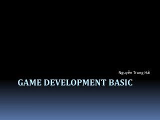 Game Development basic