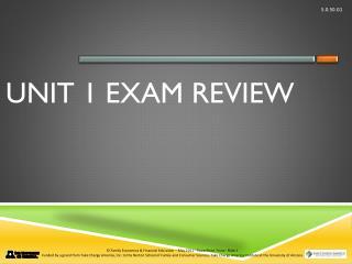 Unit 1 Exam Review