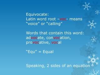 Definition of Equivocate