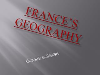 France's geography