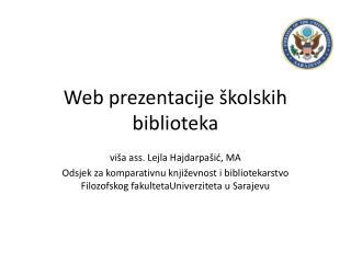 Web prezentacije školskih biblioteka