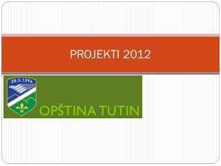 PROJEKTI 2012
