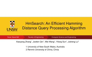 HmSearch : An Efficient Hamming Distance Query Processing Algorithm