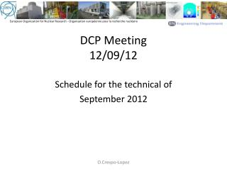 DCP Meeting 12/09/12