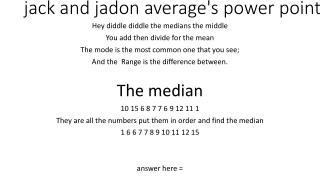 jack and jadon average's power point
