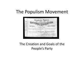 The Populism Movement