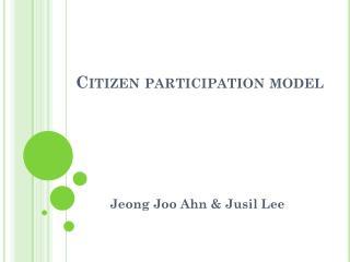 Citizen participation model