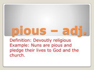 pious – adj.