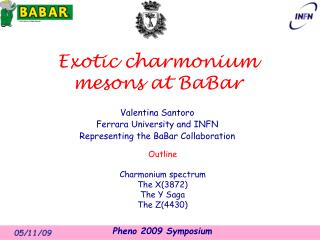Exotic charmonium mesons  at  BaBar