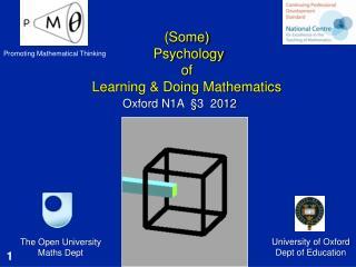 (Some)  Psychology of Learning & Doing Mathematics