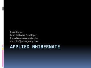 Applied  Nhibernate