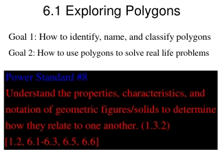 6.1 Exploring Polygons