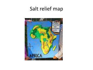 Salt relief map