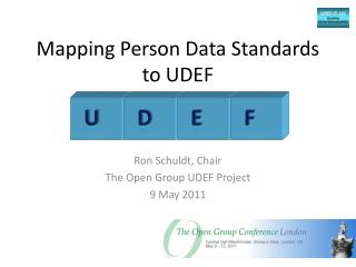 Mapping  Person Data Standards  to UDEF