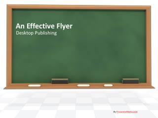 An Effective Flyer