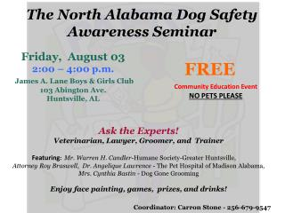 Ask the Experts! Veterinarian, Lawyer, Groomer, and  Trainer