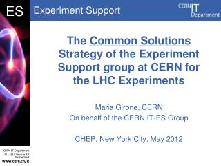 The  Common Solutions  Strategy of the Experiment Support group at CERN for the LHC Experiments