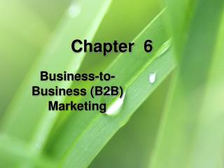 Business-to-Business B2B Marketing