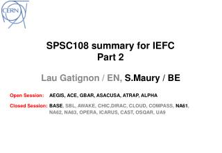 SPSC108  summary  for  IEFC Part 2