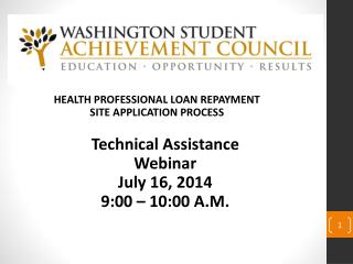 HEALTH PROFESSIONAL LOAN REPAYMENT SITE APPLICATION PROCESS