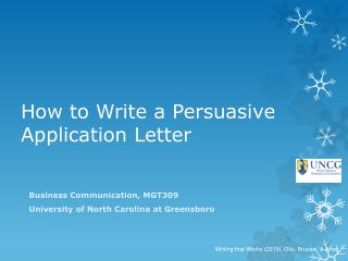 How to Write a Persuasive Application Letter