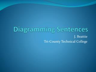 Diagramming Sentences