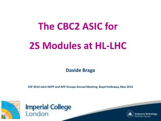 The CBC2 ASIC for  2S Modules at HL-LHC