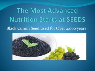 The Most Advanced Nutrition Starts at SEEDS