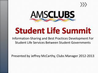 Student Life Summit