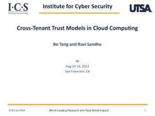 Cross-Tenant Trust Models in Cloud Computing