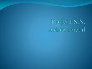 Projet I.S.N. Arbre fractal