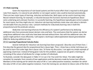 17.5 Rule Learning