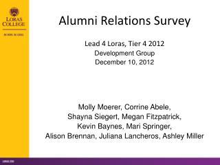 Alumni Relations Survey